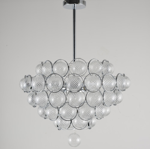LIGHTING JUNGLE BE13 6-Light Chandelier,Chrome
