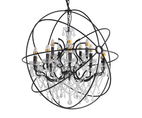 LIGHTING JUNGLE 9849/10+5P 15-Light Chandelier,Rustic Brozne