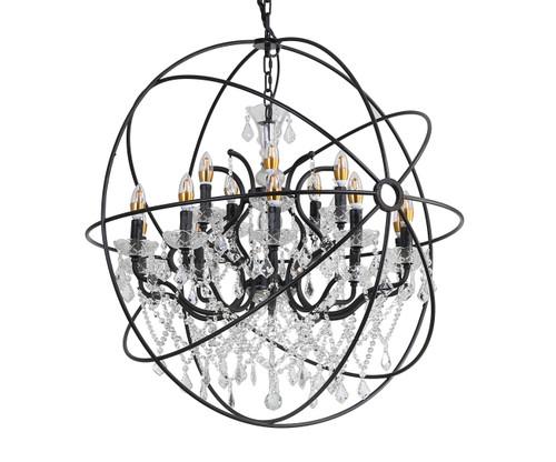 LIGHTING JUNGLE 9849/10+5P 15-Light Chandelier,Rustic Brozne
