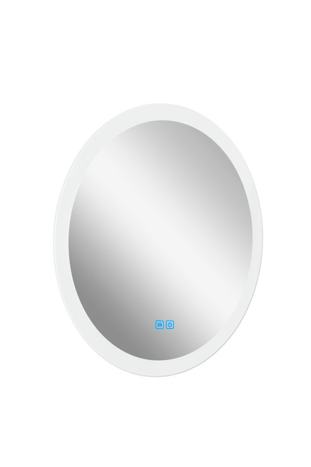 CWI LIGHTING 1235W24 Round Matte White LED 24 in. Mirror From our Armanno Collection