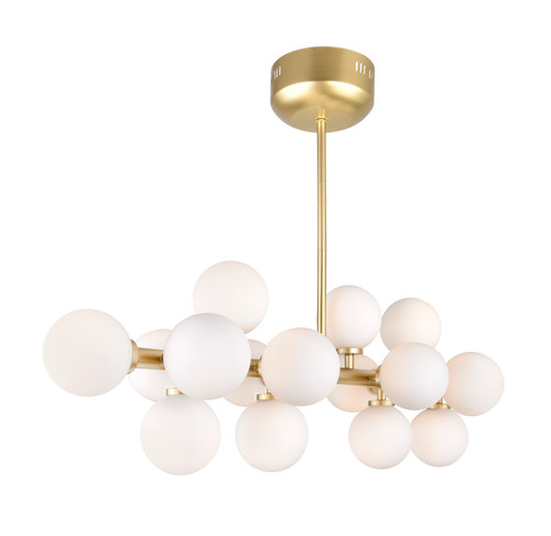CWI LIGHTING 1020P36-16-602 16 Light  Chandelier with Satin Gold finish
