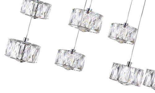 CWI LIGHTING 5636P28ST-RC LED Multi Light Pendant with Chrome finish
