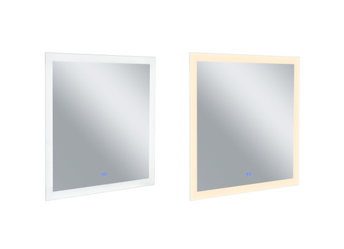 CWI LIGHTING 1233W36-36 Square Matte White LED 36 in. Mirror From our Abigail Collection