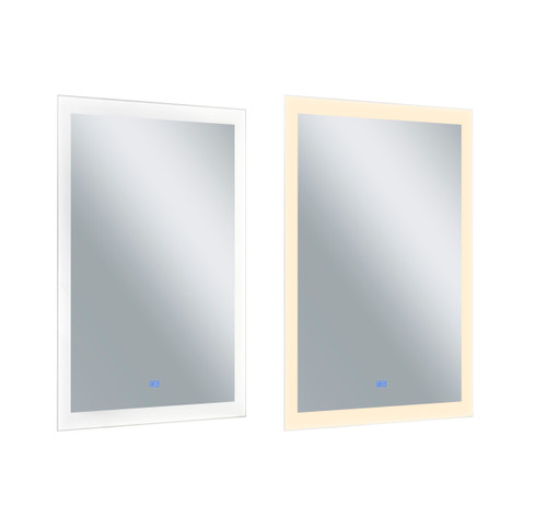 CWI LIGHTING 1233W30-49 Rectangle Matte White LED 30 in. Mirror From our Abigail Collection