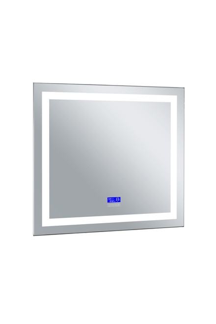 CWI LIGHTING 1232W40-36-B-6000K Rectangle Matte White LED 40 in. Mirror From our Abril Collection