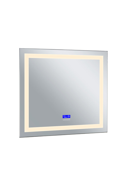 CWI LIGHTING 1232W40-36-B-3000K Rectangle Matte White LED 40 in. Mirror From our Abril Collection