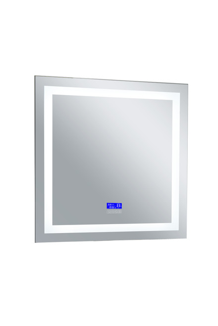 CWI LIGHTING 1232W36-36-B-6000K Rectangle Matte White LED 36 in. Mirror From our Abril Collection