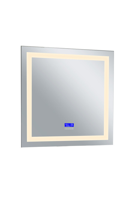 CWI LIGHTING 1232W36-36-B-3000K Square Matte White LED 36 in. Mirror From our Abril Collection