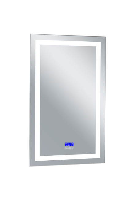 CWI LIGHTING 1232W30-49-B-6000K Rectangle Matte White LED 30 in. Mirror From our Abril Collection