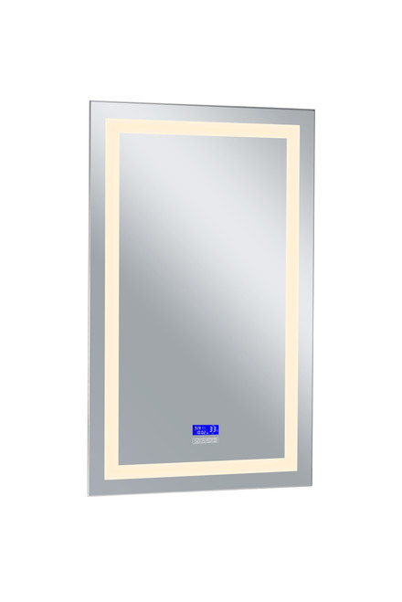 CWI LIGHTING 1232W30-49-B-3000K Rectangle Matte White LED 30 in. Mirror From our Abril Collection