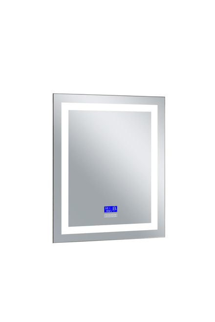 CWI LIGHTING 1232W30-36-B-6000K Rectangle Matte White LED 30 in. Mirror From our Abril Collection