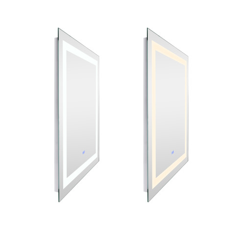 CWI LIGHTING 1232W30-36-A Rectangle Matte White LED 30 in. Mirror From our Abril Collection