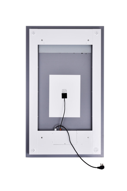 CWI LIGHTING 1232W30-49-A Rectangle Matte White LED 30 in. Mirror From our Abril Collection