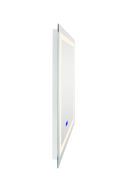 CWI LIGHTING 1232W32-40-B-3000K Rectangle Matte White LED 32 in. Mirror From our Abril Collection