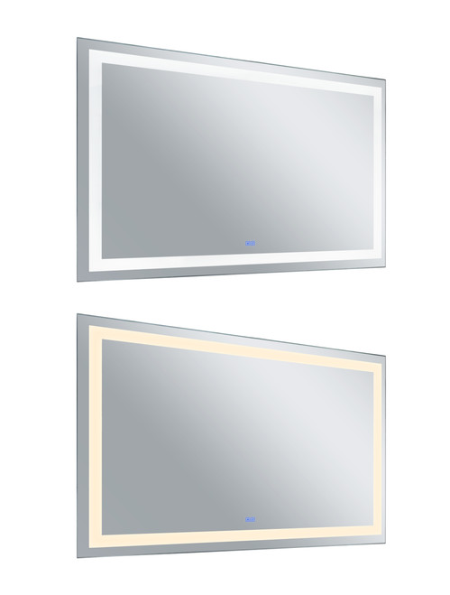 CWI LIGHTING 1232W58-36-A Rectangle Matte White LED 58 in. Mirror From our Abril Collection