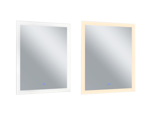 CWI LIGHTING 1233W30-36 Rectangle Matte White LED 30 in. Mirror From our Abigail Collection