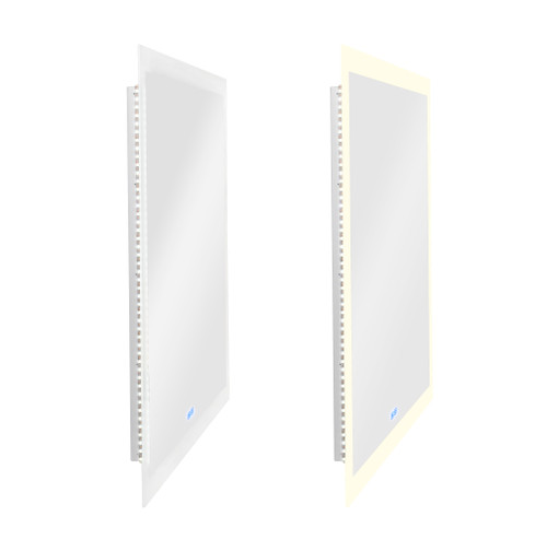 CWI LIGHTING 1233W40-36 Rectangle Matte White LED 40 in. Mirror From our Abigail Collection