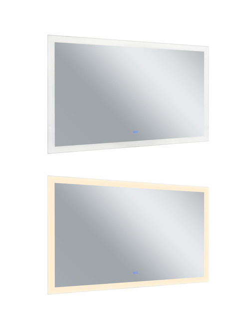 CWI LIGHTING 1233W58-36 Rectangle Matte White LED 58 in. Mirror From our Abigail Collection