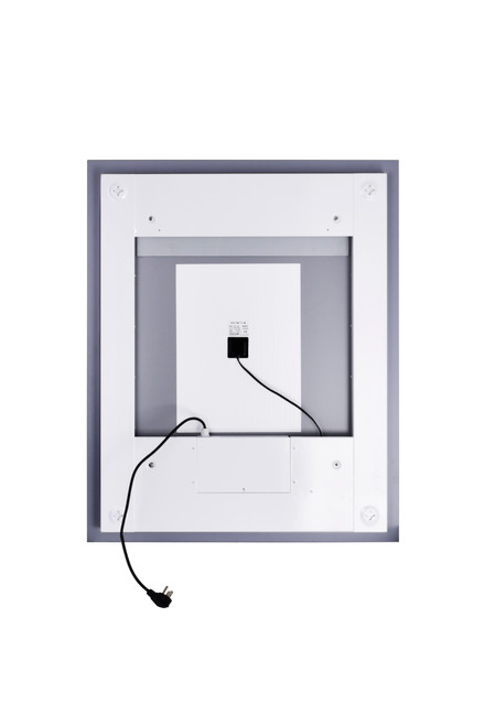 CWI LIGHTING 1232W36-36-A Square Matte White LED 36 in. Mirror From our Abril Collection