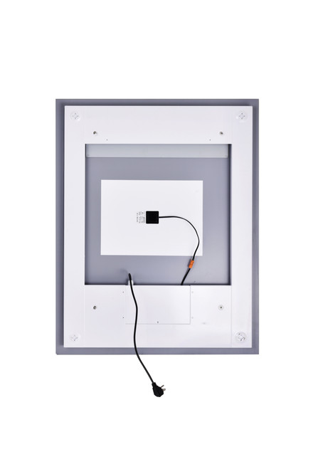 CWI LIGHTING 1232W32-40-B-6000K Rectangle Matte White LED 32 in. Mirror From our Abril Collection