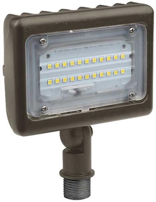 DABMAR LIGHTING DF-LED5715 SLIM FLOOD LIGHT W/ KNUCKLE 15W LED COB 120-277V, Bronze