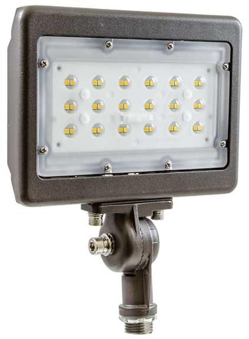 DABMAR LIGHTING DF-LED5735 SLIM FLOOD LIGHT W/ KNUCKLE 30W LED 100-277V 4000K, Bronze
