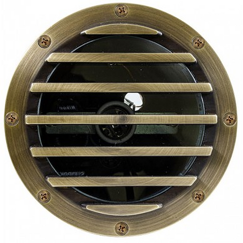 DABMAR LIGHTING FG4400-WBS Fiberglass In-Ground Well Light with Grill, Bronze