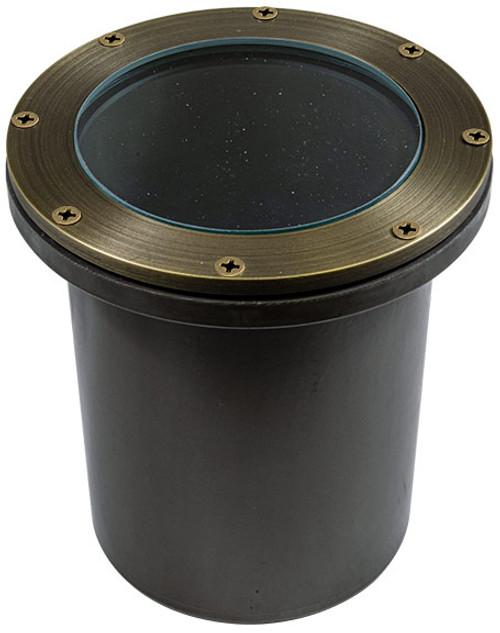 DABMAR LIGHTING FG4450-WBS Fiberglass In-Ground Well Light, Weathered Brass