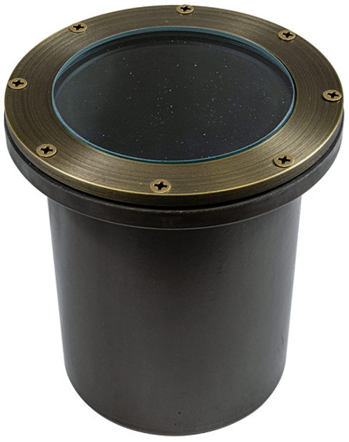 DABMAR LIGHTING FG4450-LED12-RGBW-WBS FIBERGLASS W/O GRILL 12W RGBW A23 LED FLOOD 120V, Weathered Brass