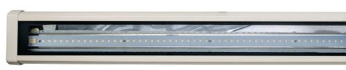 """DABMAR LIGHTING DF9402-LED25-W CAST ALUM SIGN FIXTURE 43 5/8"""" 25W LED T5 120-277V 5000K, White"""
