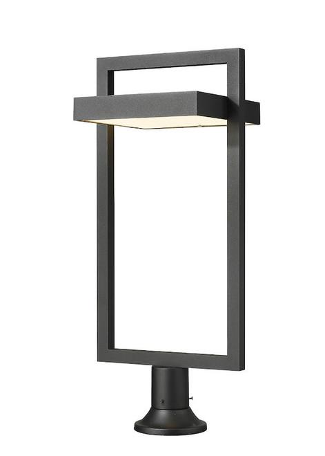 Z-LITE 566PHXLR-553PM-BK-LED 1 Light Outdoor Pier Mounted Fixture,Black