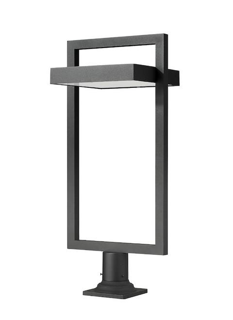 Z-LITE 566PHXLR-533PM-BK-LED 1 Light Outdoor Pier Mounted Fixture,Black