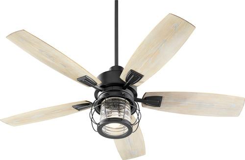 QUOROM INTERNATIONAL 13525-69 Galveston 1-Light LED Patio Fan, Noir