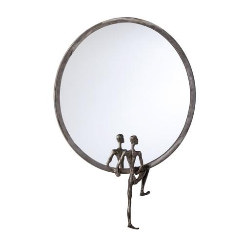 CYAN DESIGN 04446 Kobe Mirror #1, Raw Steel