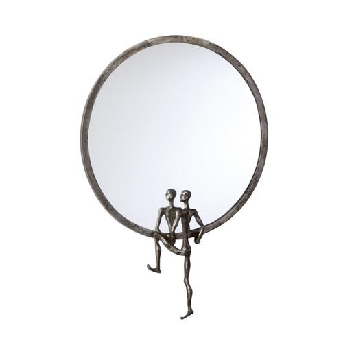 CYAN DESIGN 04447 Kobe Mirror #2, Raw Steel