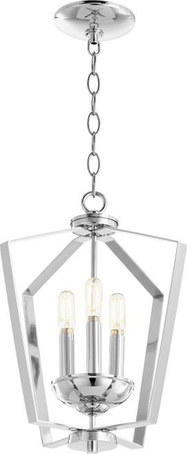 QUORUM INTERNATIONAL 894-3-14 3-Light Entry Light, Chrome