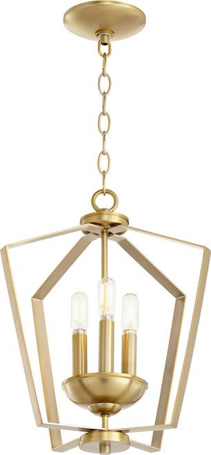 QUORUM INTERNATIONAL 894-3-80 3-Light Entry Light, Aged Brass