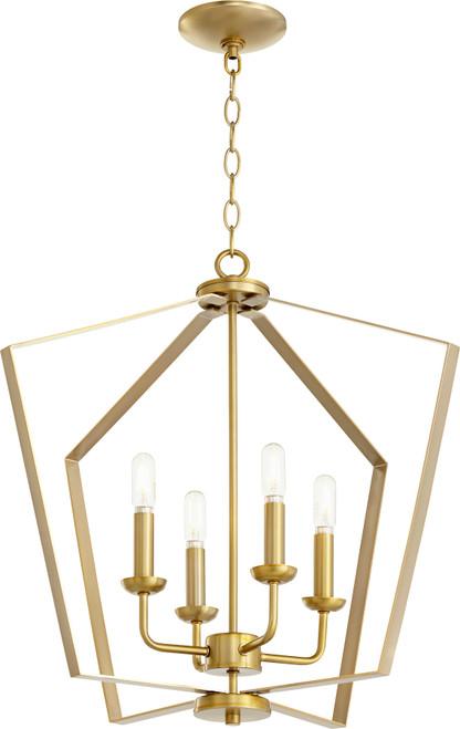 QUORUM INTERNATIONAL 894-4-80 4-Light Entry Light, Aged Brass