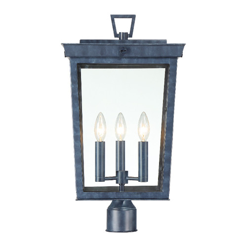 CRYSTORAMA BEL-A8069-GE Belmont 3 Light Graphite Outdoor Lantern Post