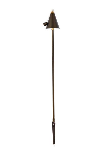 "ELITCO LIGHTING P806 Outdoor Cast Brass torch path light D:8"" H:61"""