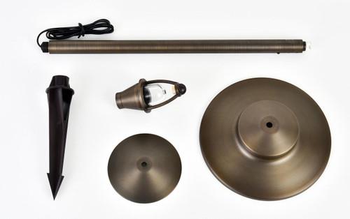 "ELITCO LIGHTING P804 Outdoor Cast Brass Path light D:9"" H:24"""