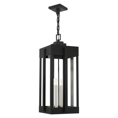 LIVEX LIGHTING 27720-04 Lexington 4 Lt Black Outdoor Pendant Lantern