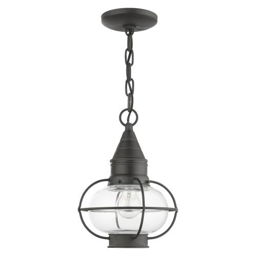 LIVEX LIGHTING 26910-61 Newburyport 1 Lt Charcoal Outdoor Pendant Lantern