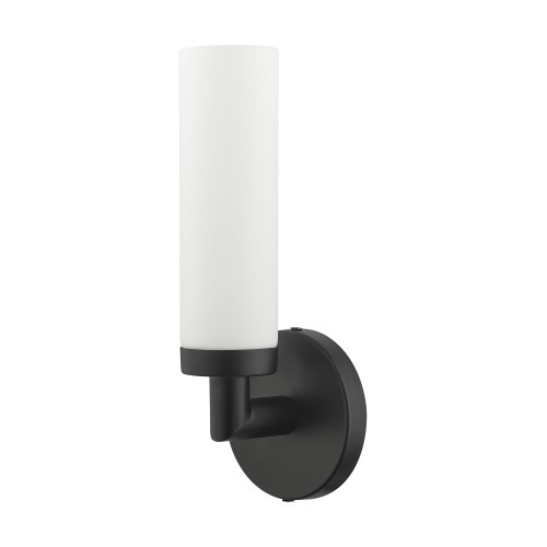 LIVEX LIGHTING 10103-04 Aero 1 Lt Black ADA Single Sconce