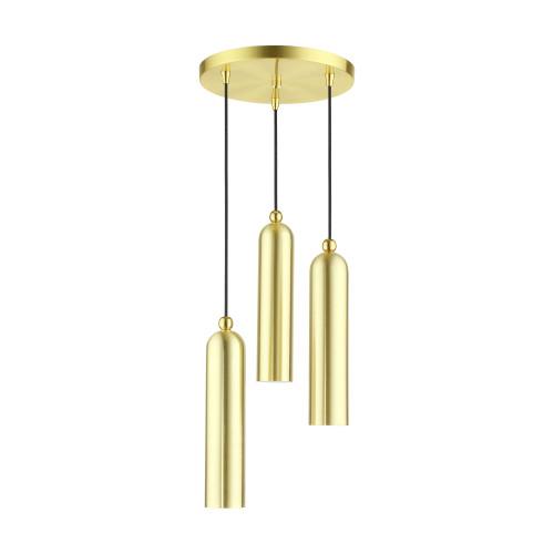 LIVEX LIGHTING 46753-12 Ardmore 3 Lt Satin Brass  Pendant