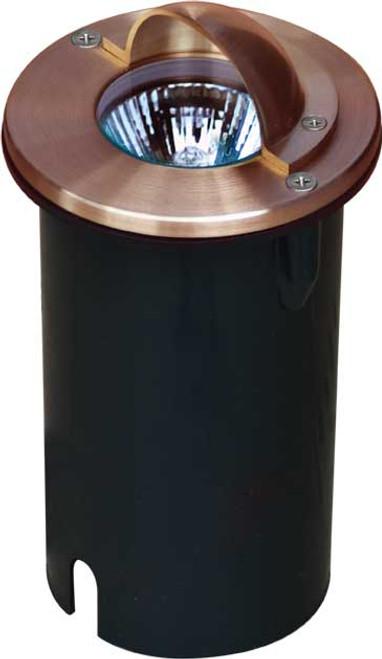 DABMAR LIGHTING LV625-LED4-RGBW-CP HALF MOON STEP LIGHT 4W RGBW LED MR16 12V, Copper