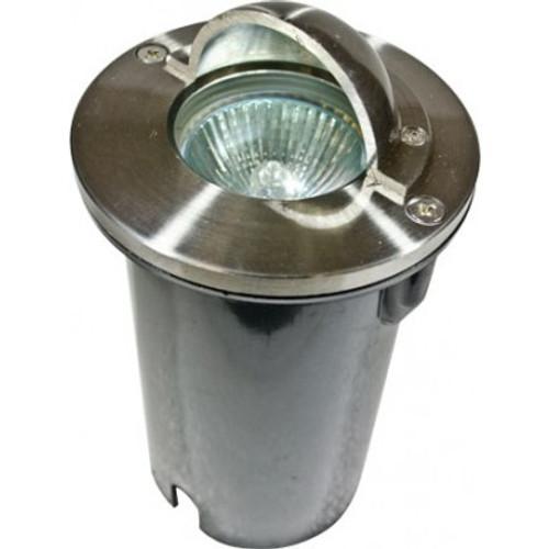 DABMAR LIGHTING LV625-LED4-RGBW-SS316 HALF MOON STEP LIGHT 4W RGBW LED MR16 12V, 316 Marine Grade Stainless Steel