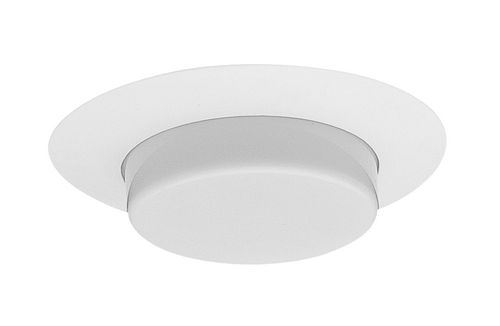 NICOR 17579 6 in. White Recessed Plastic Shower Trim with Lexan Drop Opal Lens
