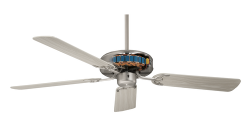 NICOR 52MASOB 52 in. Oil-Rubbed Bronze Ceiling Fan with Alder Blades, Dual Mount