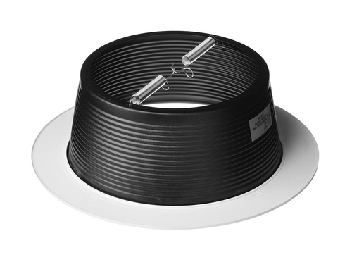 NICOR 17503 6 in. Black Recessed Baffle Trim with 1 in. White Trim Ring